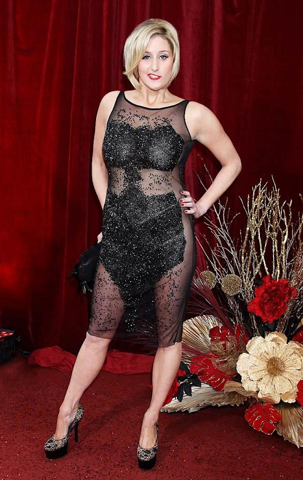 """Hollyoaks"" star Bronagh Waugh traumatized onlookers upon arriving at the 2010 British Soap Awards in a barely-there, sequined mess of a dress and crooked smile. Chris Jackson/<a href=""http://www.gettyimages.com/"" target=""new"">GettyImages.com</a> - May 8, 2010"