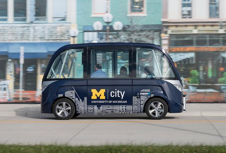mcity navya driverless shuttle bus