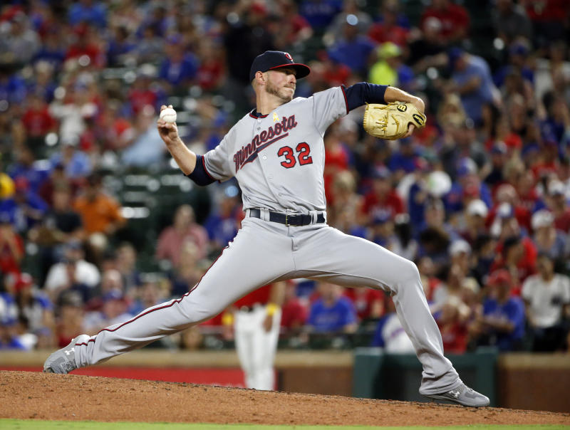 Pitcher Oliver Drake has now represented 20 percent of MLB's 30 franchise in the last eight months alone. (AP)