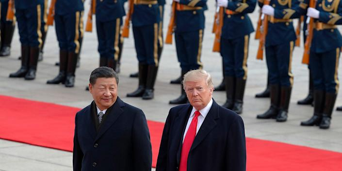 US President Donald Trump with Chinese President Xi Jinping in 2017.