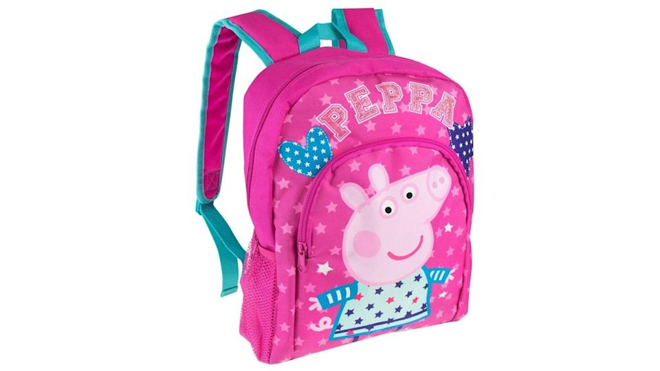 This Peppa Pig backpack has a little bit of sparkle.