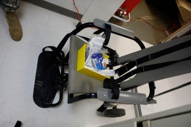 A restraining chair used to feed detainees at Guantanamo.