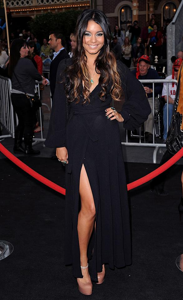 "<a href=""http://movies.yahoo.com/movie/contributor/1808436979"">Vanessa Hudgens</a> attends the Disneyland premiere of <a href=""http://movies.yahoo.com/movie/1809791042/info"">Pirates of the Caribbean: On Stranger Tides</a> on May 7, 2011."