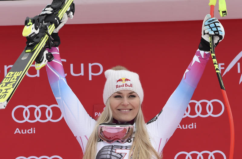 Olympics: Skier Vonn in tears over memory of grandfather