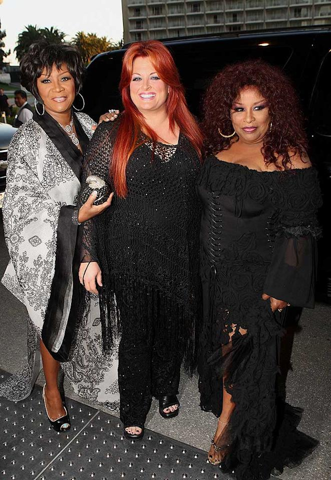 """Patti LaBelle's outta control kimono, Wynonna Judd's fishnet flub, and Chaka Khan's ghastly garb prove once again that daring divas are quite capable of fashion disasters. Arnold Turner/<a href=""""http://www.wireimage.com"""" target=""""new"""">WireImage.com</a> - May 17, 2008"""
