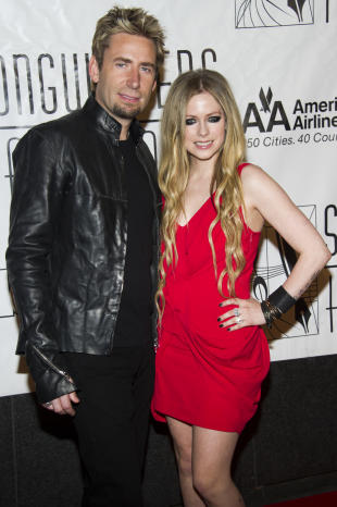 Chad Kroeger and Avril Lavigne (photo: Charles Sykes/Invision/AP)