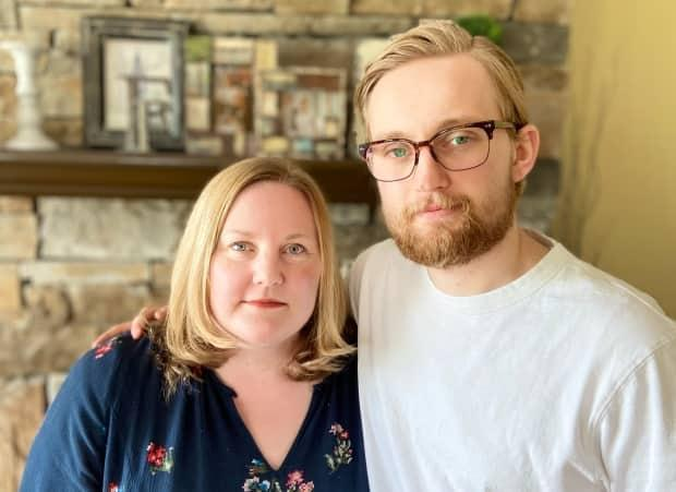 """'It's easy to say it hasn't affected you and it won't affect you … and everyone's over-reacting, until your mom almost dies,"""" said Cohen, pictured here with his mother a week after she was released from hospital. He's urging Albertans to take the virus seriously."""