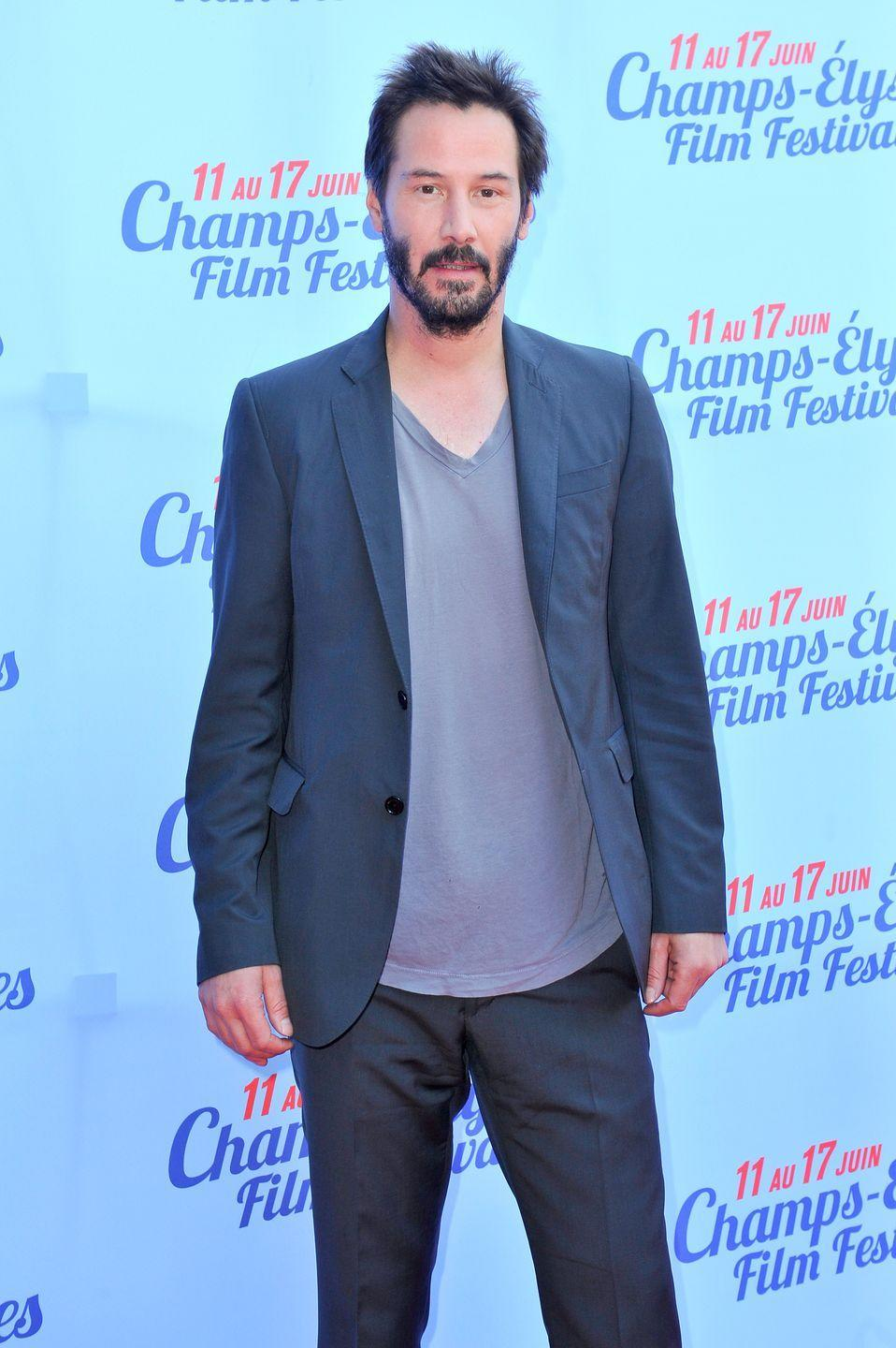 """<p>Still performing his own stunts in his 50s, Reeves needs a workout routine that prioritizes flexibility and stamina over brute strength. """"[Keanu] wasn't lifting crazy heavy weights—it was getting his body moving, getting his muscular endurance and stability—it was just a mindset,"""" long-time trainer Patrick Murphy told <em><a href=""""https://www.menshealth.com/fitness/a27331286/keanu-reeves-training-john-wick-3/"""" rel=""""nofollow noopener"""" target=""""_blank"""" data-ylk=""""slk:Men's Health"""" class=""""link rapid-noclick-resp"""">Men's Health</a></em>. """"He would leave the gym exhausted, but feeling great.""""</p><p><a class=""""link rapid-noclick-resp"""" href=""""https://www.youtube.com/watch?v=vAmWUDqBo80"""" rel=""""nofollow noopener"""" target=""""_blank"""" data-ylk=""""slk:Watch here"""">Watch here</a></p>"""
