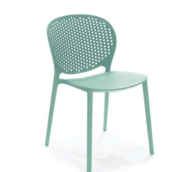 """Buy one or a dozen of these lovely stacking chairs and you'll be set for that outdoor dinner party that's on the horizon. $69, Article. <a href=""""https://www.article.com/product/2235/dot-malibu-aqua-dining-chair"""" rel=""""nofollow noopener"""" target=""""_blank"""" data-ylk=""""slk:Get it now!"""" class=""""link rapid-noclick-resp"""">Get it now!</a>"""