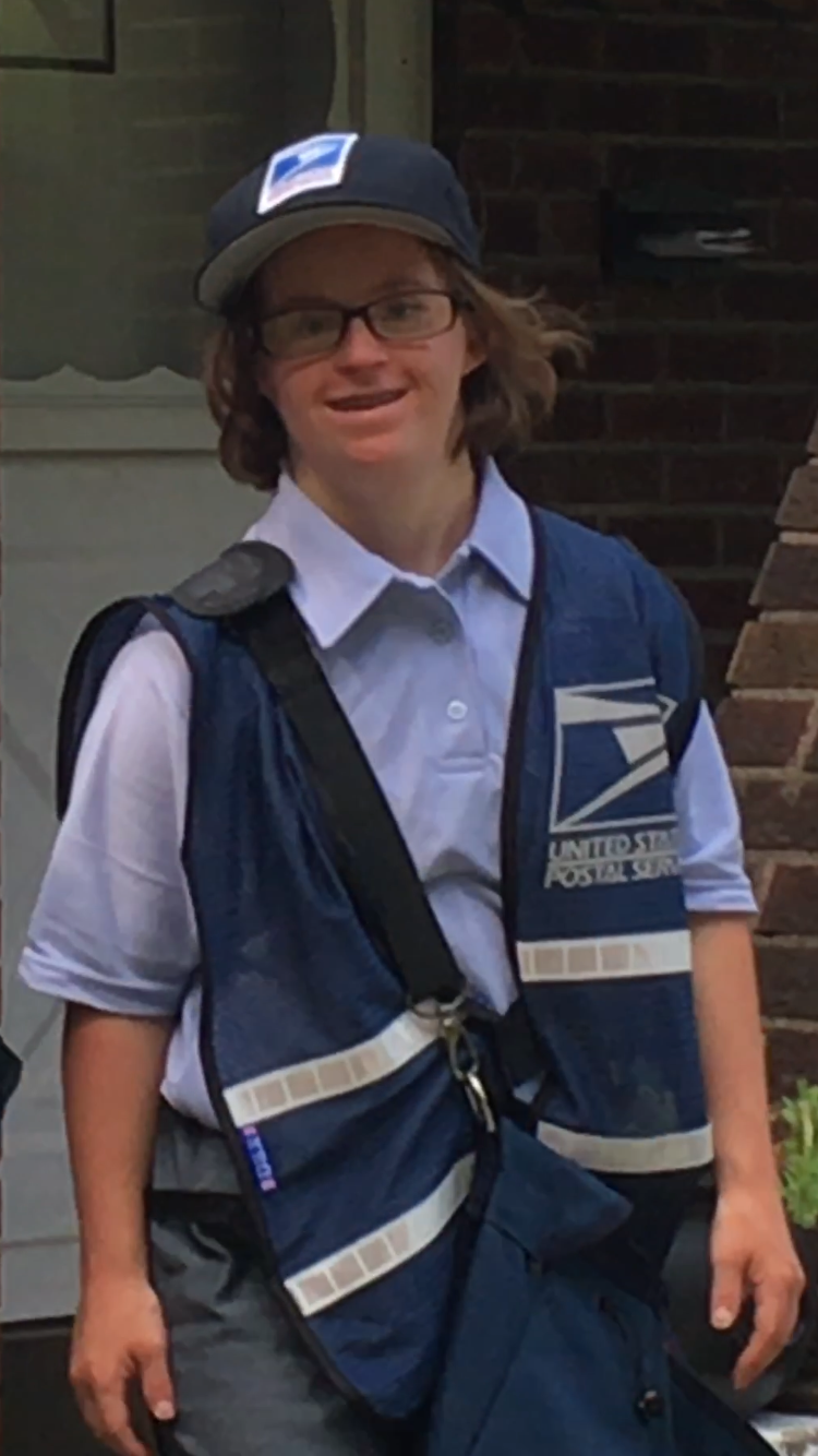 Grace Flannery, 21, a woman with Down syndrome, became a mail carrier for the day. (Photo: Courtesy of Michael Flannery)