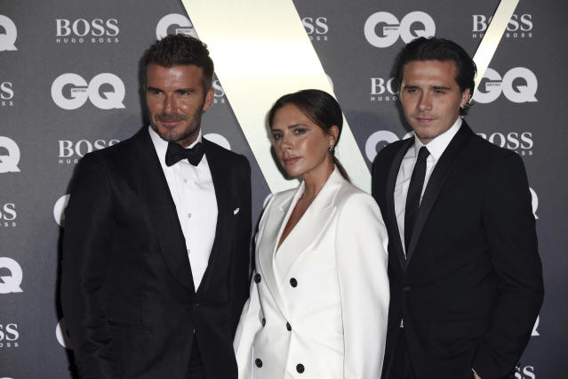 David and Victoria Beckham's eldest son Brooklyn has turned 21. (AP)