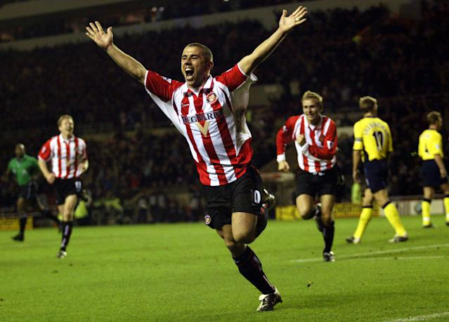 Kevin Phillips celebrates scoring for Sunderland (Credit: Getty Images)