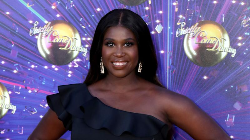 "Motsi Mabuse attends the ""Strictly Come Dancing"" launch show red carpet on August 26, 2019. (Photo by Mike Marsland/WireImage)"
