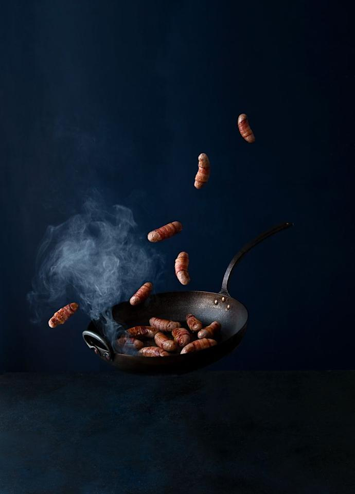 """<p><strong>Overall score: 86/100</strong></p><p>Our winning pigs in blankets are made from tender British sausage meat wrapped in perfectly crispy bacon. Small cuts of apricot and a generous helping of herbs (sage, oregano and thyme) also add depth to the flavour. The bacon is gently salted with a hint of smokiness and balances the meaty sausages well. Ideal for serving with the Christmas dinner or as a tasty appetizer.</p><p><a class=""""body-btn-link"""" href=""""https://go.redirectingat.com?id=127X1599956&url=https%3A%2F%2Fwww.farmison.com%2Fchristmas%2Fchristmas-trimmings%2Fchestnut-sage-apricot-pigs-in-blankets&sref=https%3A%2F%2Fwww.goodhousekeeping.com%2Fuk%2Ffood%2Ffood-reviews%2Fg23864072%2Fthe-best-pigs-in-blankets-for-your-christmas-dinner%2F"""" target=""""_blank"""">BUY NOW</a> <strong>Farmison & Co, £7.95 for 300g </strong></p>"""