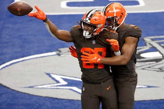 Mayfield, Garrett right at home as Browns beat Cowboys 49-38