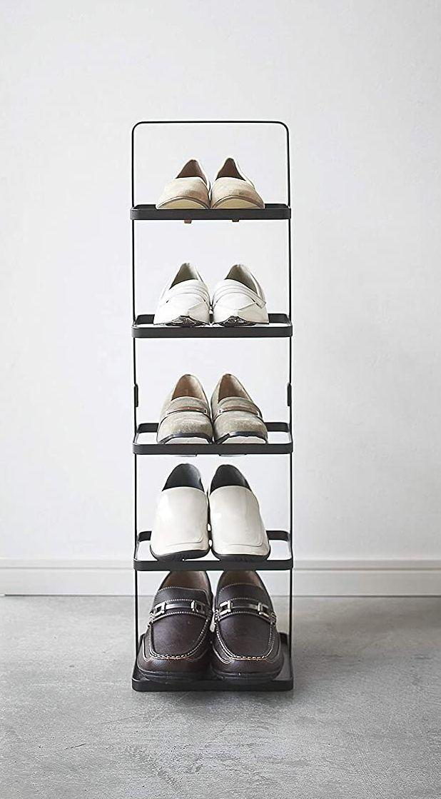 """Put this by your front door so you can take back your entryway and stop tripping over stray sandals the<i>second</i>you walk in the door.<br /><br /><strong>Promising review:</strong>""""<strong>This is great!</strong>Fits vertically in my small entryway, just what I was looking for.<strong>If you want a modern stylish clean-looking shoe rack with a small footprint, this is the perfect selection!</strong>It's lightweight, so of course, it's not the sturdiest piece of furniture, but for storing five pairs of shoes, it's great! It fits men's size 10 shoes perfectly."""" —<a href=""""https://www.amazon.com/dp/B00T7CSNRE?tag=huffpost-bfsyndication-20&ascsubtag=5834502%2C29%2C46%2Cd%2C0%2C0%2C0%2C962%3A1%3B901%3A2%3B900%3A2%3B974%3A3%3B975%3A2%3B982%3A2%2C16271096%2C0"""" target=""""_blank"""" rel=""""noopener noreferrer"""">Aaron Staley</a><br /><br /><strong>Get it from Amazon for<a href=""""https://www.amazon.com/dp/B00T7CSNRE?tag=huffpost-bfsyndication-20&ascsubtag=5834502%2C29%2C46%2Cd%2C0%2C0%2C0%2C962%3A1%3B901%3A2%3B900%3A2%3B974%3A3%3B975%3A2%3B982%3A2%2C16271096%2C0"""" target=""""_blank"""" rel=""""noopener noreferrer"""">$44.52+</a>(available in two colors, two widths and five styles).</strong>"""