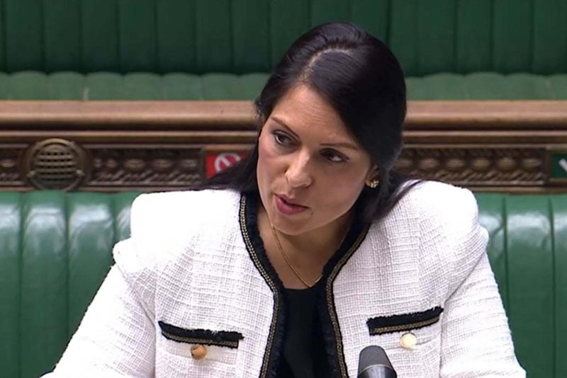 Priti Patel speaking earlier in June (PA)