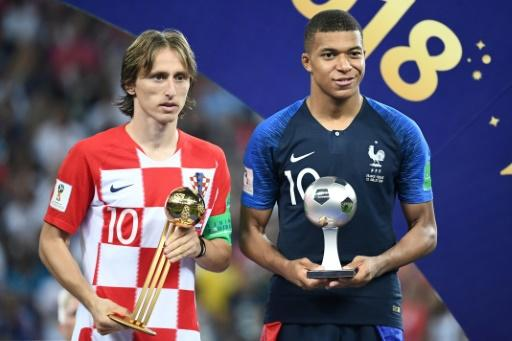 Master and apprentice: Luka Modric won the World Cup's best player and Kylian Mbappe the young player of the tournament