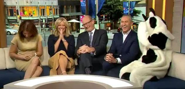 The <i>Sunrise</i> hosts couldn't keep it together during Sam Mac's latest stunt. Photo: 7 Network