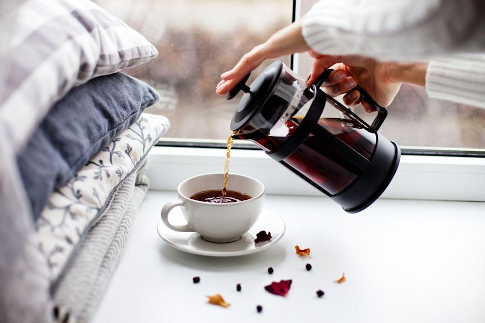 "<p>The <a href=""https://www.goodhousekeeping.com/appliances/coffee-maker-reviews/g30679911/best-french-press/"" rel=""nofollow noopener"" target=""_blank"" data-ylk=""slk:French press"" class=""link rapid-noclick-resp"">French press</a> is a simple, elegant, and easy-to-use tool for making a delicious cup of coffee. It works by soaking ground coffee directly in hot water, which you then separate using a plunger. </p><p><strong>Pro tip</strong>: It also makes many multiple servings per brew, depending on the size of the carafe.<br></p><p><em><a href=""https://go.redirectingat.com?id=74968X1596630&url=https%3A%2F%2Fwww.illy.com%2Fen-us%2Fcoffee%2Fcoffee-preparation%2Fhow-to-use-a-french-press&sref=https%3A%2F%2Fwww.goodhousekeeping.com%2Ffood-recipes%2Fg35012036%2Fbest-coffee-recipes%2F"" rel=""nofollow noopener"" target=""_blank"" data-ylk=""slk:Get the recipe for French Press Coffee from Illy »"" class=""link rapid-noclick-resp"">Get the recipe for French Press Coffee from Illy »</a></em></p>"