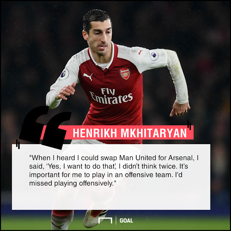 Henrikh Mkhitaryan Arsenal move offensive football