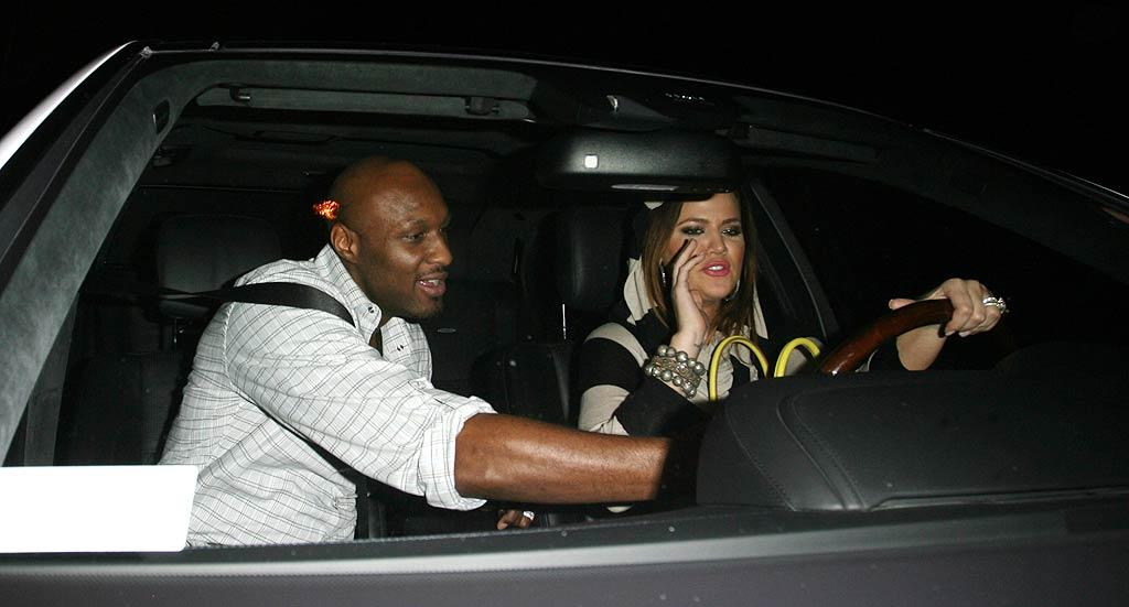 """The NBA star let his wife of almost two years take the wheel before heading off to their next stop: The Montage Hotel in Beverly Hills. Roshan Perera/<a href=""""http://www.splashnewsonline.com/"""" target=""""new"""">Splash News</a> - August 22, 2011"""