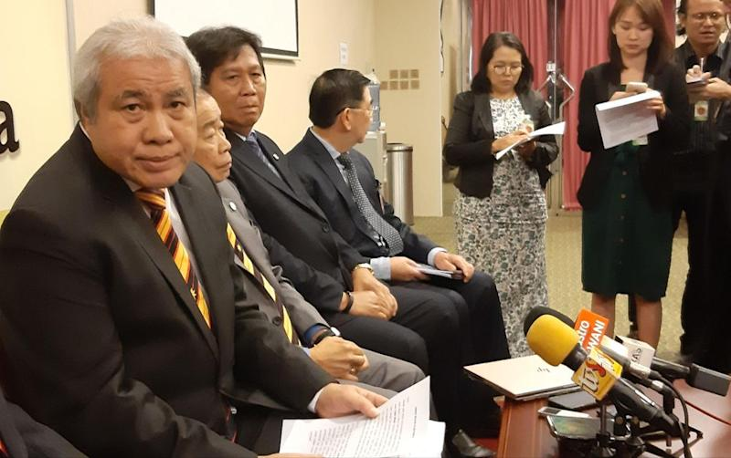 Sarawak Deputy Chief Minister Datuk Amar Awang Tengah Ali Hasan (left) slammed Petronas for failing to obey the state sales tax. — Picture by Sulok Tawie