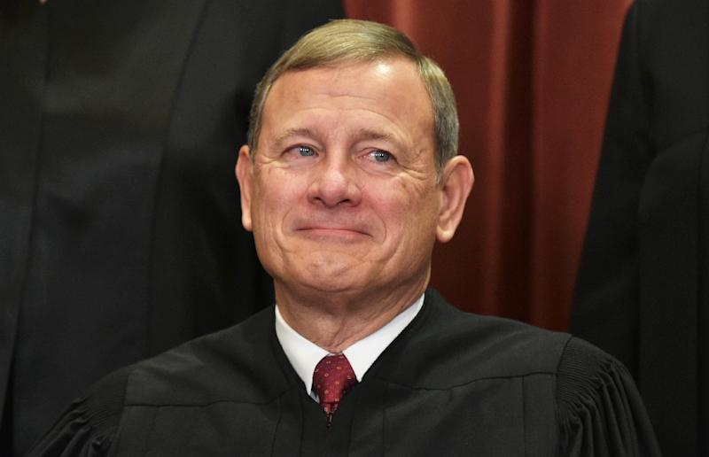 Chief Justice John Roberts is seen as a potential swing vote if abortion comes before the US Supreme Court (AFP Photo/MANDEL NGAN)