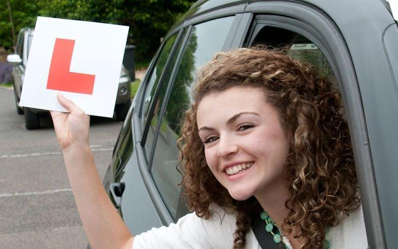 Young driver with L plate - Credit: Alamy