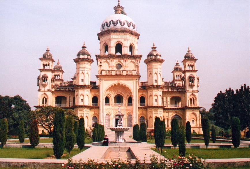 <p>Built in 1904 as part of a palace in Rampur, the Raza Library is one of India's few protected monuments. The collection in the library dates to the royal family's efforts since the 1700s, and includes 17,000 rare manuscripts, 205 hand-written palm leaves and 5000 miniature paintings. (Image attribution: By public domain (public domain) [Public domain], via Wikimedia Commons) </p>
