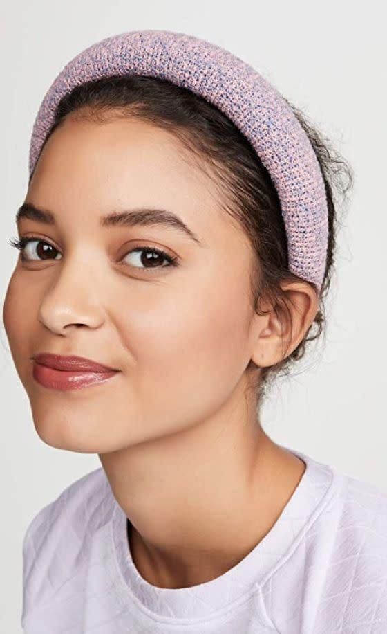 """""""Like many of you, I haven't had my hair done in <i>quite some time</i>, so my overgrown roots are starting to bug me. I'm embracing the headband trend head-on with this <a href=""""https://amzn.to/2Nlj4bd"""" rel=""""nofollow noopener"""" target=""""_blank"""" data-ylk=""""slk:Lele Sadoughi padded headband"""" class=""""link rapid-noclick-resp"""">Lele Sadoughi padded headband</a> that'll work for me year-round.""""<br><br><a href=""""https://amzn.to/2Nlj4bd"""" rel=""""nofollow noopener"""" target=""""_blank"""" data-ylk=""""slk:Originally $39, find it on sale for $29"""" class=""""link rapid-noclick-resp"""">Originally $39, find it on sale for $29</a>."""