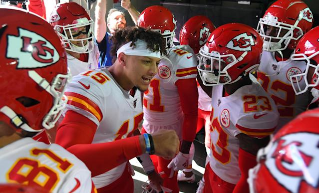 Patrick Mahomes brought the noise Sunday, but the Kansas City defense let him down. (Christopher Hanewinckel-USA TODAY Sports)