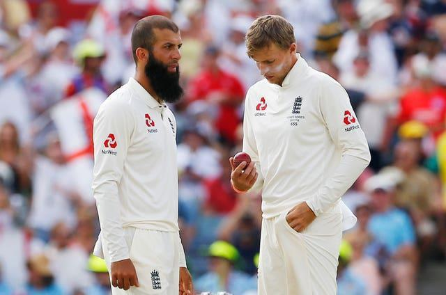 Root, right, apologised for his choice of wording about Moeen Ali, left, departing the touring group (Jason O'Brien/PA)