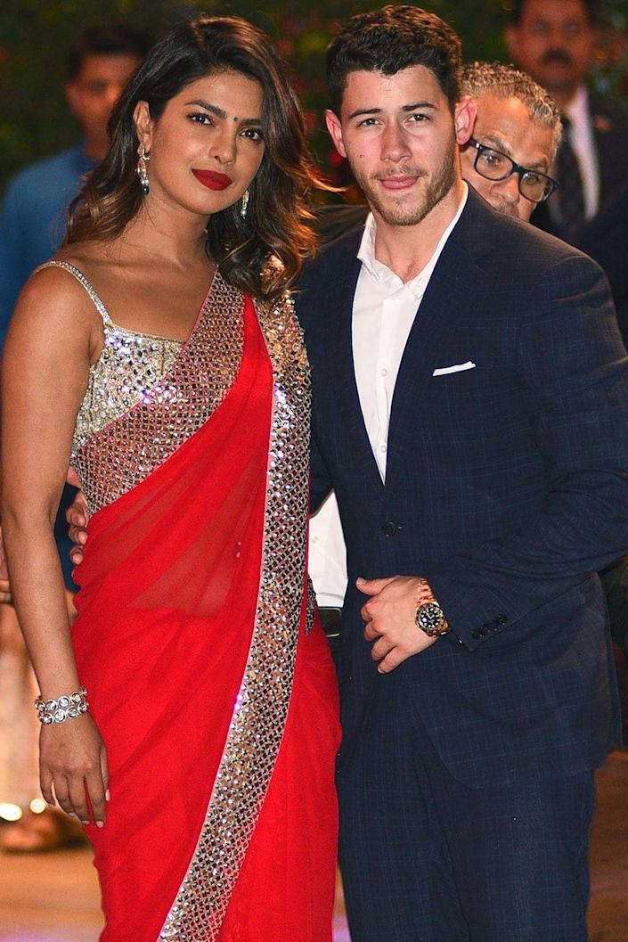 """<p>We were just getting used to the idea of this duo dating when they got engaged just two months later on her 36th birthday in London, according to <a class=""""link rapid-noclick-resp"""" href=""""https://www.etonline.com/priyanka-chopra-flashes-engagement-ring-from-nick-jonas-see-the-pic-107998"""" rel=""""nofollow noopener"""" target=""""_blank"""" data-ylk=""""slk:ET""""><em>ET</em></a>.</p>"""