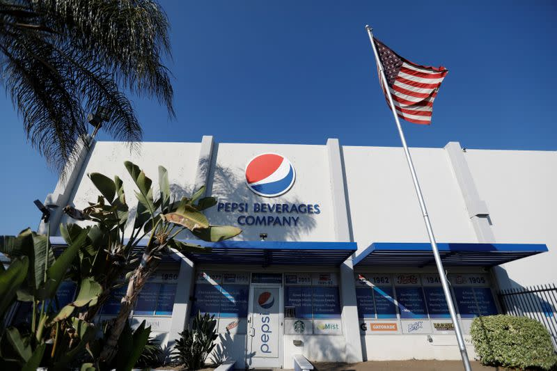 The Pepsi logo is pictured in Irwindale