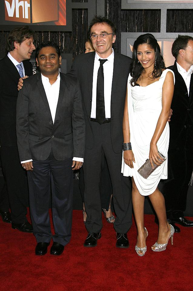 "<a href=""http://movies.yahoo.com/movie/contributor/1809187862"">A.R. Rahman</a>, <a href=""http://movies.yahoo.com/movie/contributor/1800025182"">Danny Boyle</a> and <a href=""http://movies.yahoo.com/movie/contributor/1810042390"">Freida Pinto</a> at the 14th Annual Critics' Choice Awards in Santa Monica - 01/08/2009"