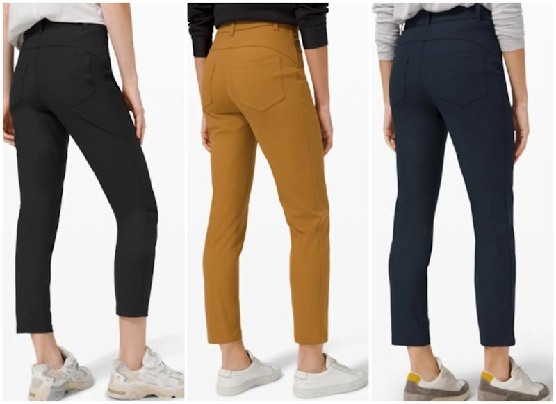 The City Sleek 5 Pocket 7/8 Pant is made for work days and weekends. (Photo via Lululemon)