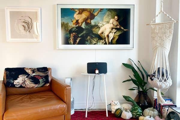 """If the idea of putting up a big, blank screen on your wall frustrates you, this may be the splurge for you. With this, you'll get a beautiful art frame that also just so happens to turn into a luxury television when you need it.<br /><br /><strong>Promising review:</strong>""""This is a brilliant TV! It looks great in art mode. If your primary goal is to have the TV look less like a TV, I think you'll be pleased with this one. There are some reviews that point out some downsides (like a small amount of local storage), but I've had no problems.<strong>The pictures make the screen look brighter than it is but with the right pictures, it looks matte and brilliant in art mode; like a framed print</strong>."""" —<a href=""""https://www.amazon.com/gp/customer-reviews/R24YETSE9QQZ5P?&linkCode=ll2&tag=huffpost-bfsyndication-20&linkId=977b6910c7b35b6cee3aa64ac865df39&language=en_US&ref_=as_li_ss_tl"""" target=""""_blank"""" rel=""""nofollow noopener noreferrer"""" data-skimlinks-tracking=""""5854435"""" data-vars-affiliate=""""Amazon"""" data-vars-href=""""https://www.amazon.com/gp/customer-reviews/R24YETSE9QQZ5P?tag=bfmal-20&ascsubtag=5854435%2C31%2C37%2Cmobile_web%2C0%2C0%2C16331343"""" data-vars-keywords=""""cleaning"""" data-vars-link-id=""""16331343"""" data-vars-price="""""""" data-vars-product-id=""""20945942"""" data-vars-product-img="""""""" data-vars-product-title="""""""" data-vars-retailers=""""Amazon"""">N B</a><br /><br /><strong>Get it from Amazon for<a href=""""https://www.amazon.com/SAMSUNG-43-inch-Class-FRAME-Built/dp/B084RBV2X6?&linkCode=ll1&tag=huffpost-bfsyndication-20&linkId=a8ba2677a0922d3bb746474ab0b98e3b&language=en_US&ref_=as_li_ss_tl"""" target=""""_blank"""" rel=""""nofollow noopener noreferrer"""" data-skimlinks-tracking=""""5854435"""" data-vars-affiliate=""""Amazon"""" data-vars-asin=""""B084RMSLDC"""" data-vars-href=""""https://www.amazon.com/dp/B084RMSLDC?tag=bfmal-20&ascsubtag=5854435%2C31%2C37%2Cmobile_web%2C0%2C0%2C16325699"""" data-vars-keywords=""""cleaning"""" data-vars-link-id=""""16325699"""" data-vars-price="""""""" data-vars-product-id=""""18419983"""" data-vars-product-img=""""http"""