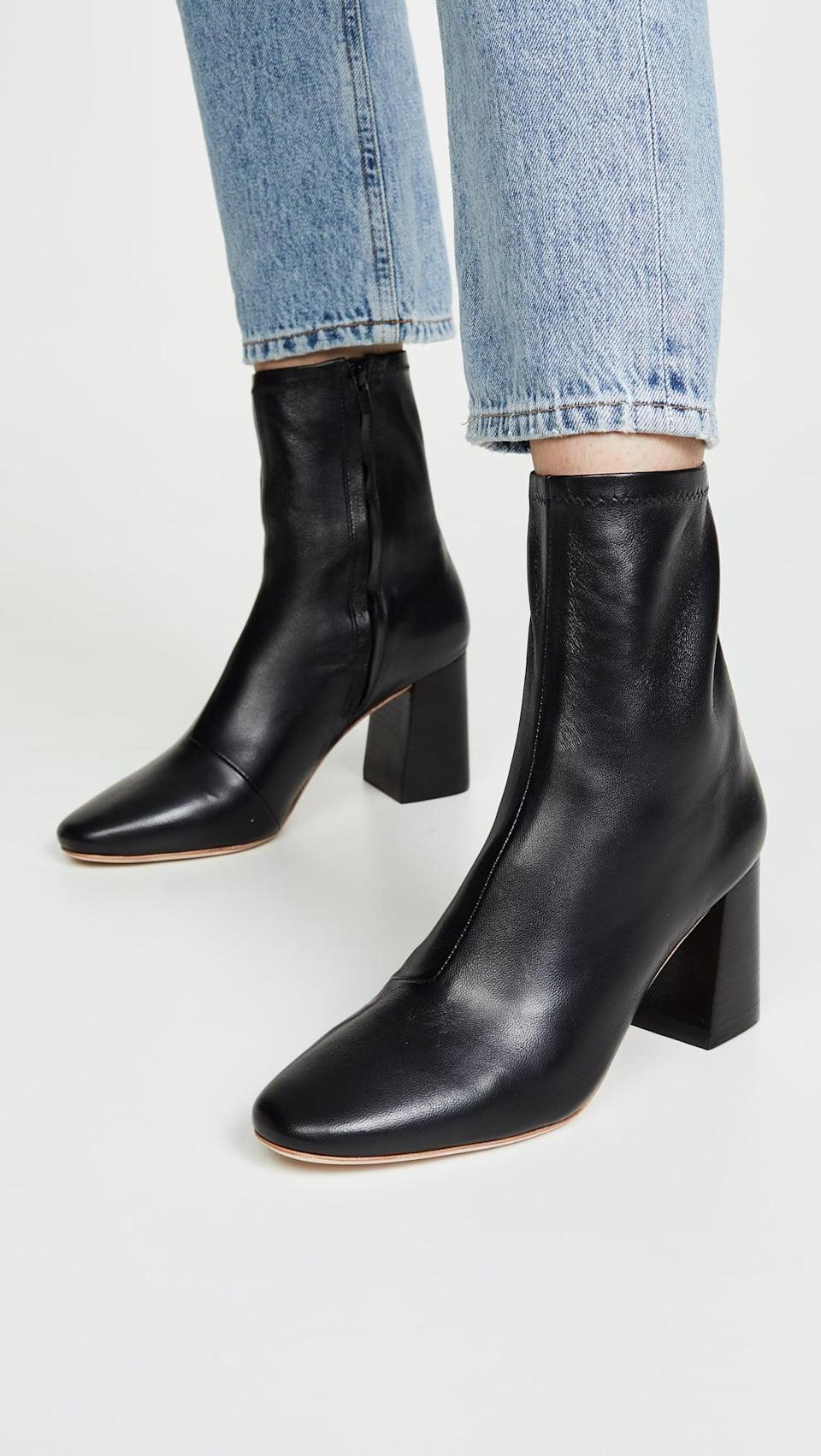 <p>Our editors are so into these <span>Loeffler Randall Elise Slim Ankle Booties</span> ($395, plus use code FALL20).</p>