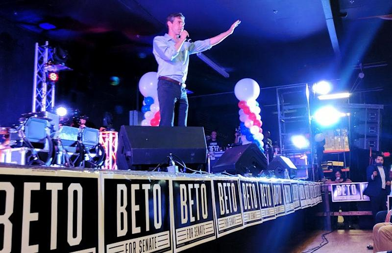 U.S. Rep. Beto O'Rourke (D-Texas) speaks before a crowd in Laredo on Aug. 17, 2018. The three-term Congressman is running a longshot campaign to unseat Republican Sen. Ted Cruz. (Photo: Roque Planas/HuffPost)