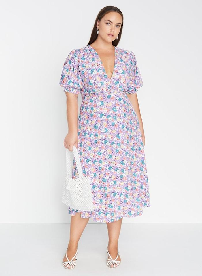 """<p><a href=""""https://www.faithfullthebrand.com/products/marie-louise-midi-dress-nefeli-floral"""" target=""""_blank"""" class=""""ga-track"""" data-ga-category=""""Related"""" data-ga-label=""""https://www.faithfullthebrand.com/products/marie-louise-midi-dress-nefeli-floral"""" data-ga-action=""""In-Line Links"""">Faithfull The Brand Marie-Louise Midi Dress Nefeli Floral</a> (currently sold out, but click through to sign up for restock notification).</p>"""