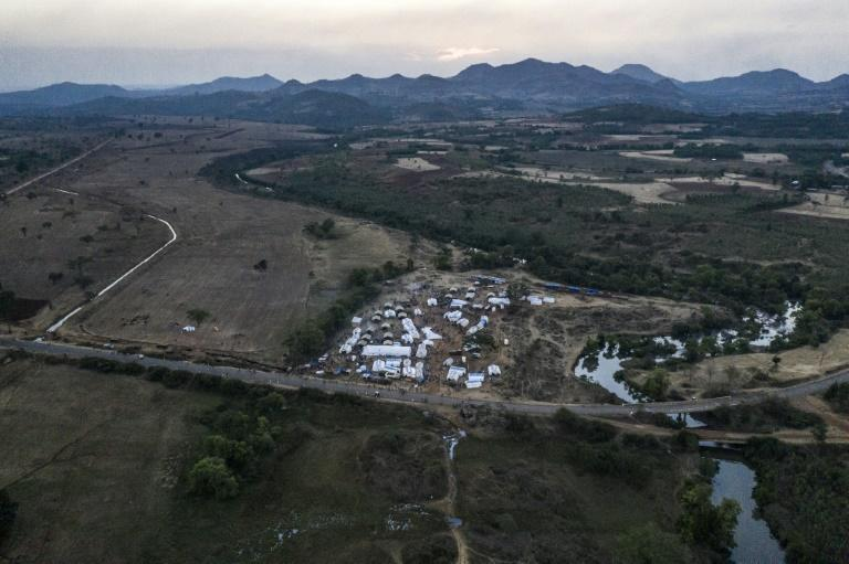A camp at Chagni hosts people who have fled violence in the Metekel area