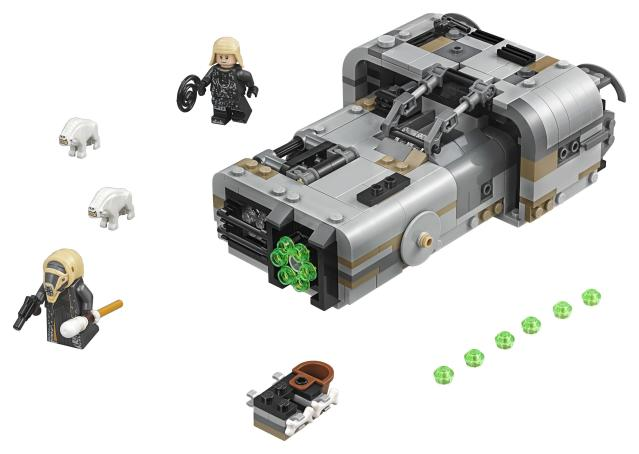 While Han's speeder has the feel of a classic muscle car, Moloch's is more imposing. (Photo: Lego)
