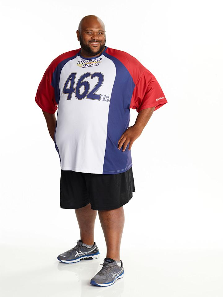 "Ruben Studdard competes on NBC's ""The Biggest Loser"" Season 15."