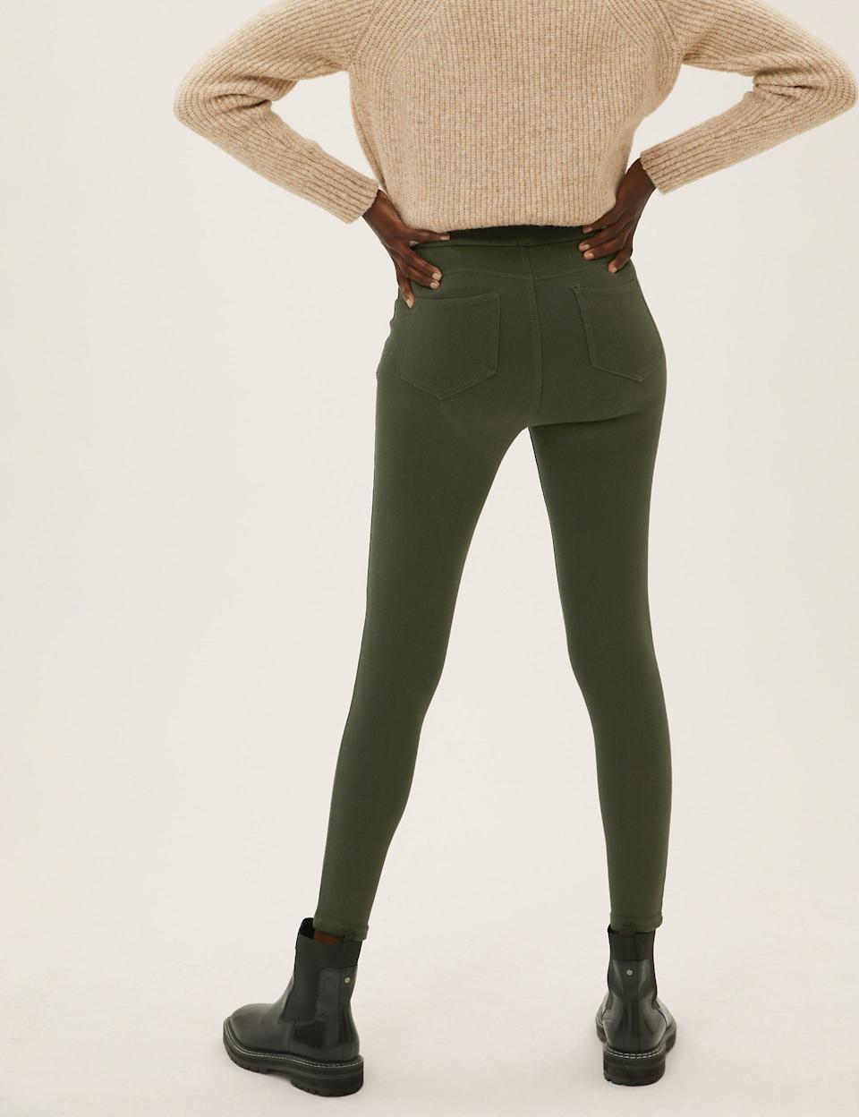 They're made from super-stretch fabric and finished with a comfy elasticated waistband. (Marks & Spencer)
