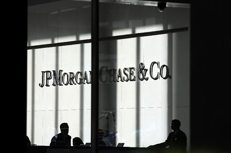 At JPMorgan, net income for the quarter ending December 31 was $4.2 billion, down 37 percent from the year-ago period (AFP Photo/SPENCER PLATT)