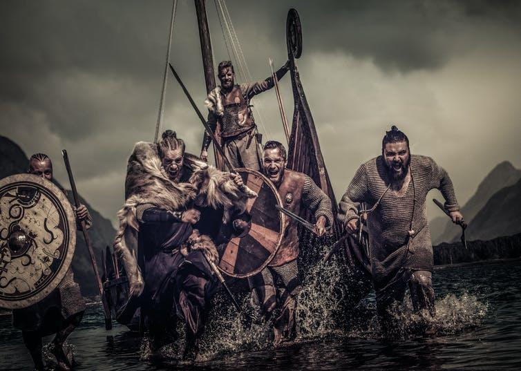 Vikings warriors on the attack.