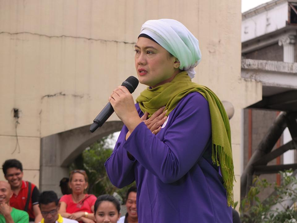 FILE PHOTO: Samira Gutoc, seen giving her views on what's happening to the country during the 2019 campaign. (Photo: Josefiel Rivera/SOPA Images/LightRocket via Getty Images)