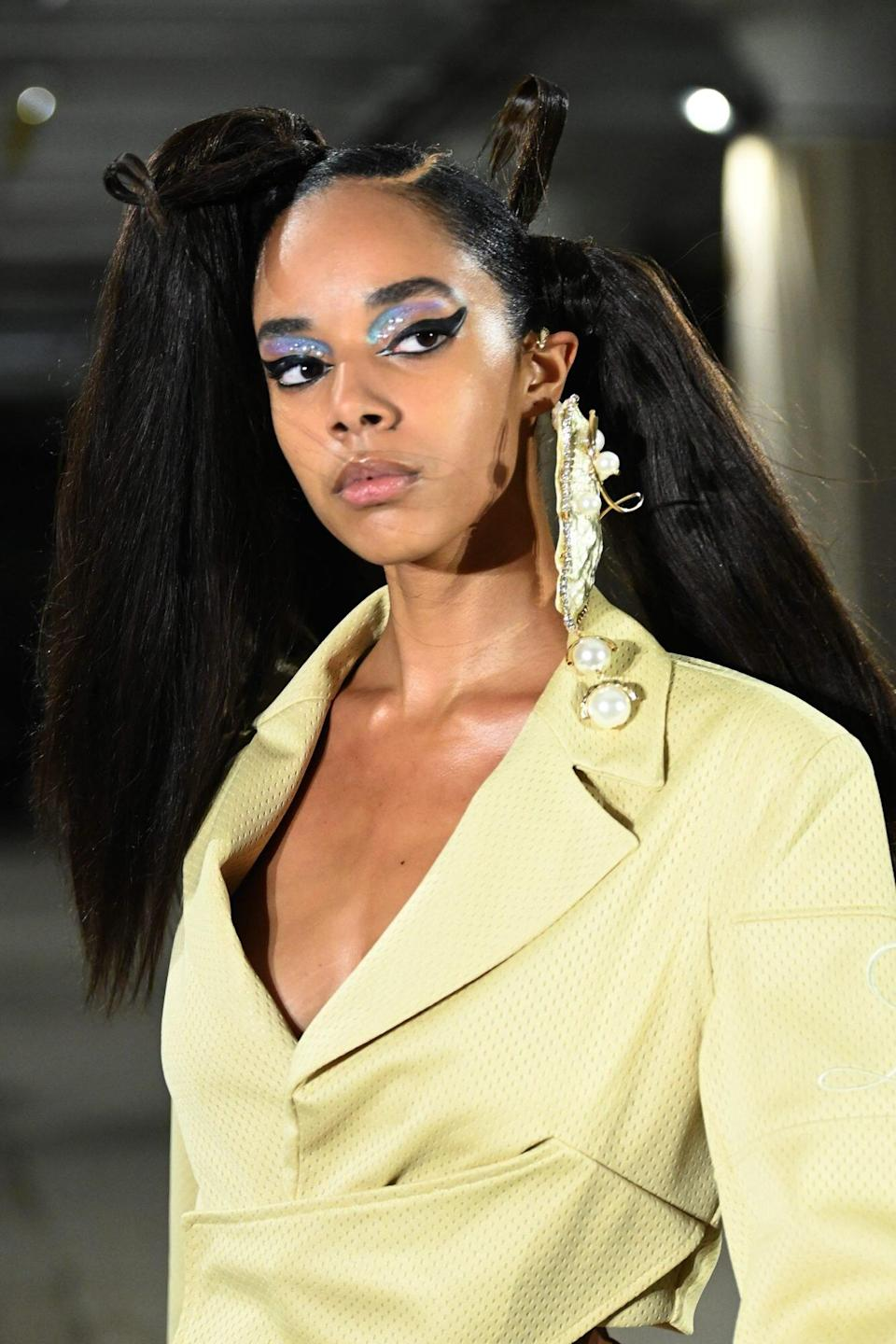 Bedazzled Hair and Makeup Trend