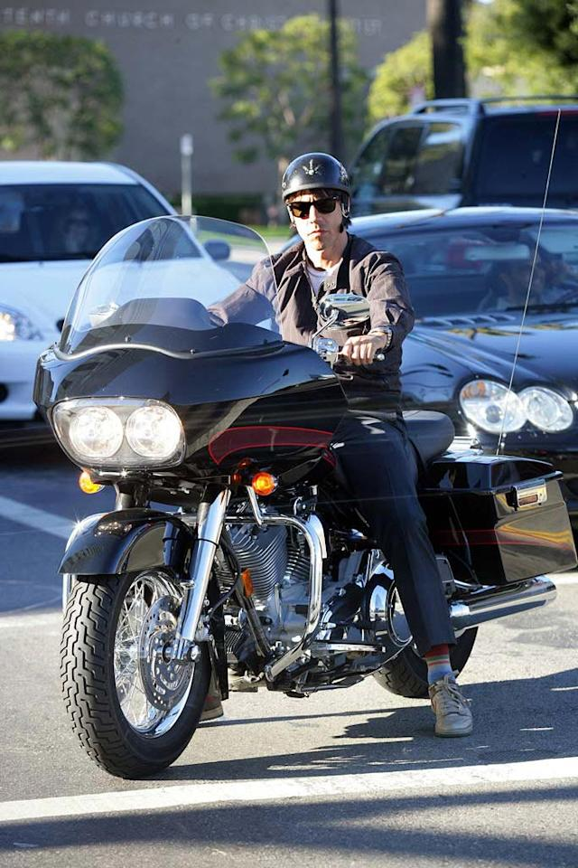 "Chili Peppers frontman Anthony Kiedis looks far from ""Red Hot"" on his fast ride. <a href=""http://www.x17online.com"" target=""new"">X17 Online</a> - November 24, 2007"